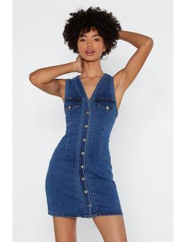 Come On Button Down Denim Dress by Nasty Gal