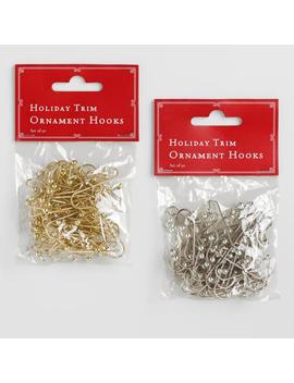 50 Count Gold And Silver Ornament Hooks Set Of 2 by World Market