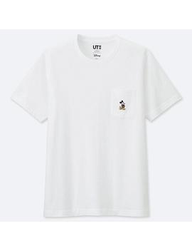 Men Mickey Stands Pocket Short Sleeve T Shirt by Uniqlo
