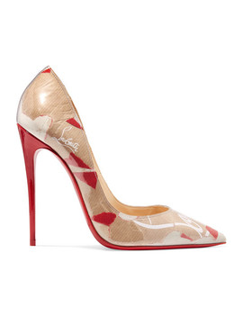 So Kate 120 Pumps Aus Pvc Mit Logoprint by Christian Louboutin