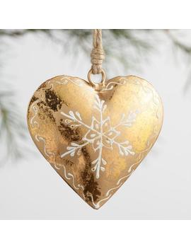 Metallic Foil Heart Ornaments Set Of 3 by World Market