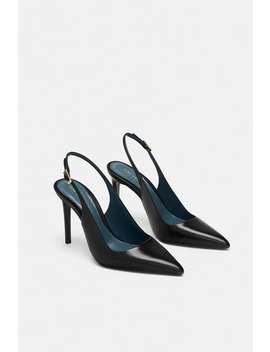 Chaussures En Cuir Ouvertes À L'arriÈre  Chaussures à Talon Chaussures Femme Soldes by Zara