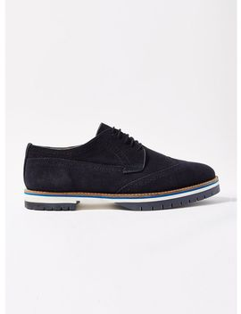 Navy Chunky Brogues by Topman