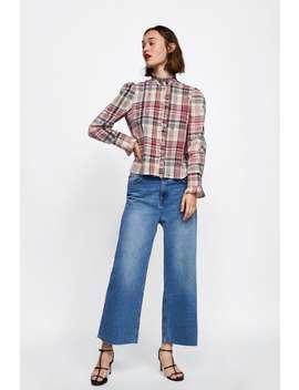 Camicia A Quadri Con Ricami  Camicie E Camicettedonna Saldi by Zara