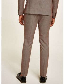Red Stone Houndstooth Skinny Trousers by Topman