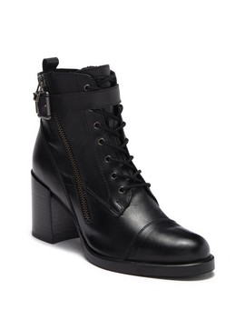 Switch Leather Heeled Buckle Boot by Catherine Catherine Malandrino