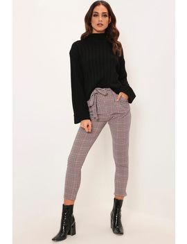 Brown Heritage Check Print Trousers by I Saw It First