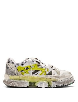 Fusion Leather And Mesh Trainers by Maison Margiela