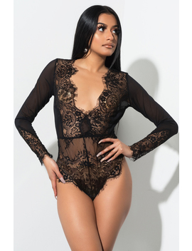Slow Down Love Lace Bodysuit by Akira