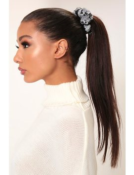 Black/White Snake Print Hair Scrunchie by I Saw It First