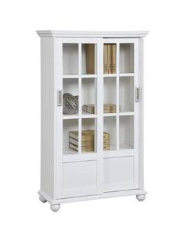 Avenue Greene Abbeywood Bookcase With Sliding Glass Doors by Avenue Greene