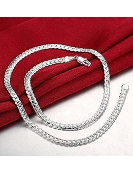 Men's Women's Italian Cuban Curb Link Chain Necklace by Supaen
