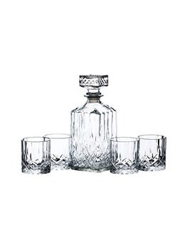 Kitchen Craft Bar Craft Kristallglas Whisky Dekanter Und # Zahnputzbecher Geschenk Set, Transparent, 5 Teilig by Amazon
