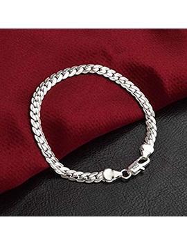 Suwanpoomshop Solid 925 Silver Men's Women's Italian 5mm Cuban Curb Link Chain Bangle Bracelet by Supaen