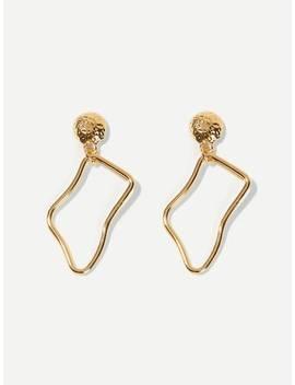 Abstract Shaped Metal Drop Earrings by Sheinside