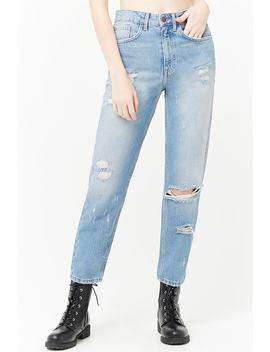 Distressed Mom Jeans by Forever 21