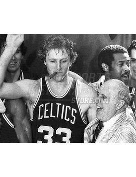 Larry Bird Red Auerbach Boston Celtics Cigar 8x10 11x14 16x20 Photo 812   Size 16x20 by Your Sports Memorabilia Store