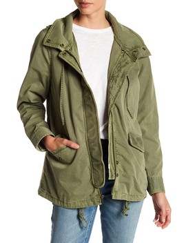 Rib Trim Hooded Anorak (Petite Available) by Melrose And Market