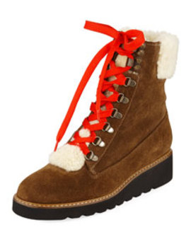 Vale Shearling Tall Boots by Veronica Beard