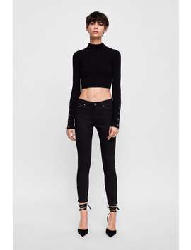 Zw Premium Skinny Stay Black Jeans  Jeanswoman New Collection by Zara