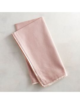 Blush Napkin With Fringe by Pier1 Imports