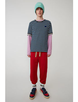 Track Pants Red/Green by Acne Studios