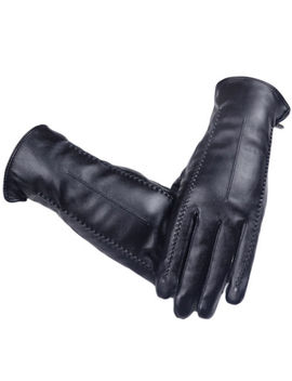 Fashion Women Gloves Touch Screen Warm Lining Winter Soft Driving Leather T1 U5 W by Unbranded