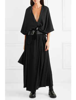 Hooded Crepe Maxi Dress by Ann Demeulemeester