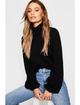Pull Oversize à Col Roulé by Boohoo