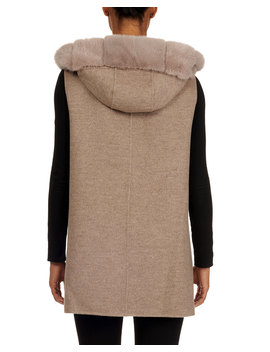 Loro Piana Wool Cashmere Parka Jacket With Detachable Mink Fur Vest by Neiman Marcus