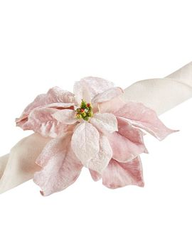 Pink Velvet Poinsettia Napkin Ring by Pier1 Imports