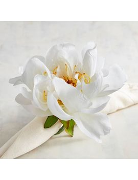 White Peony Napkin Ring by Pier1 Imports
