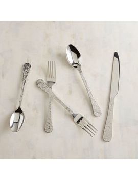 Textured Pewter Stainless Steel Flatware, Set Of 20 by Pier1 Imports