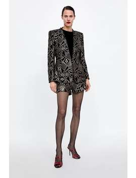 Sequined Blazer  Blazerswoman Sale by Zara
