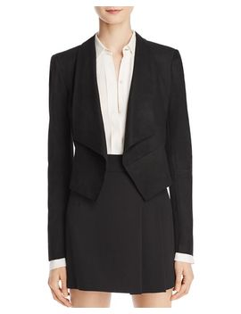 Harvey Suede Open Front Jacket by Alice And Olivia