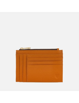 Aspinal Of London Women's Double Sided Zip Card Holder   Mustard by Aspinal Of London