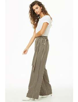 Geo Print Palazzo Trousers by Forever 21