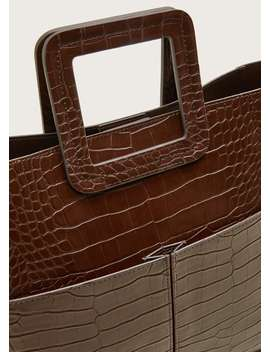 Faux Leather Tote Bag by Mango