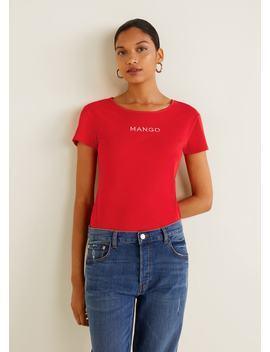 T Shirt Logotipo Bordado by Mango