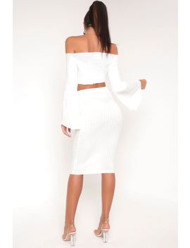Cream Knitted Midi Skirt by I Saw It First