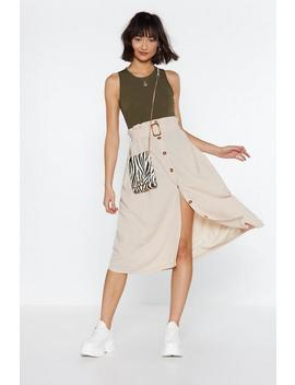 The Hand Your Belt Midi Skirt by Nasty Gal