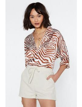 Heading On Safari Zebra Blouse by Nasty Gal