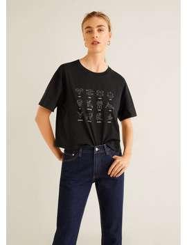 T Shirt Algodão Estampado by Mango