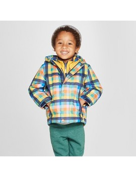 Toddler Boys' Plaid 3 In 1 Jacket   Cat & Jack™ Navy by Cat & Jack