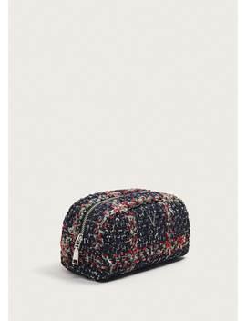 Tweed Cosmetic Bag by Mango
