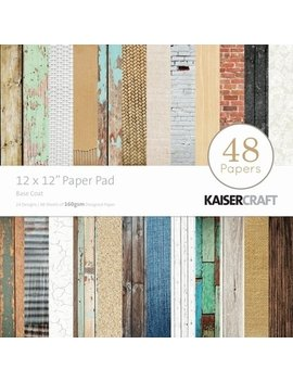 Kaisercraft Paper Pad 12 By 12 Inch, Base Coat, 48 Pack by Kaisercraft