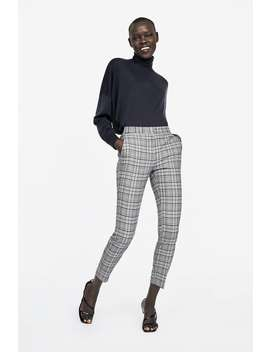 Check Skinny Trousers  View All Trousers Woman New Collection by Zara