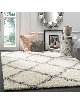 Safavieh Dallas Shag Collection Sgd257 F Ivory And Grey Area Rug (8' X 10') by Safavieh