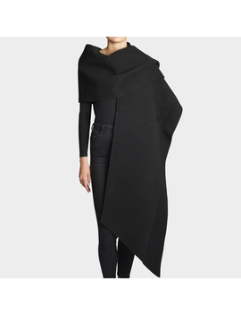 Fleece Stole In Black Wool by Marc Jacobs