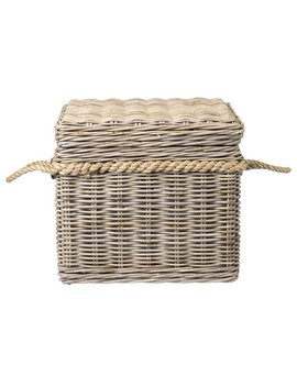 East At Main's Lawton Brown Rattan Square Storage Trunk by East At Main